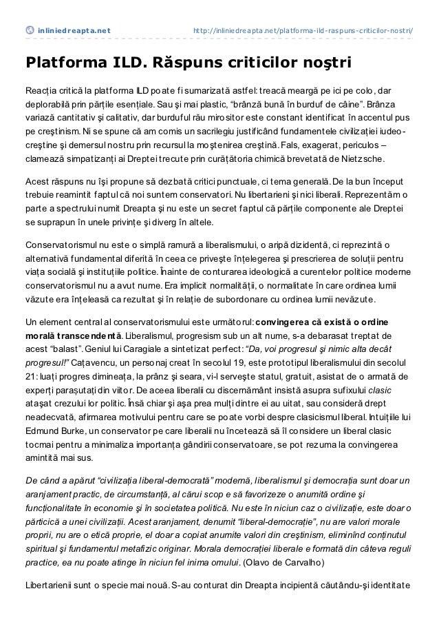 inliniedreapt a.net                      http://inliniedreapta.net/platforma-ild-raspuns-criticilor-nostri/Platforma ILD. ...