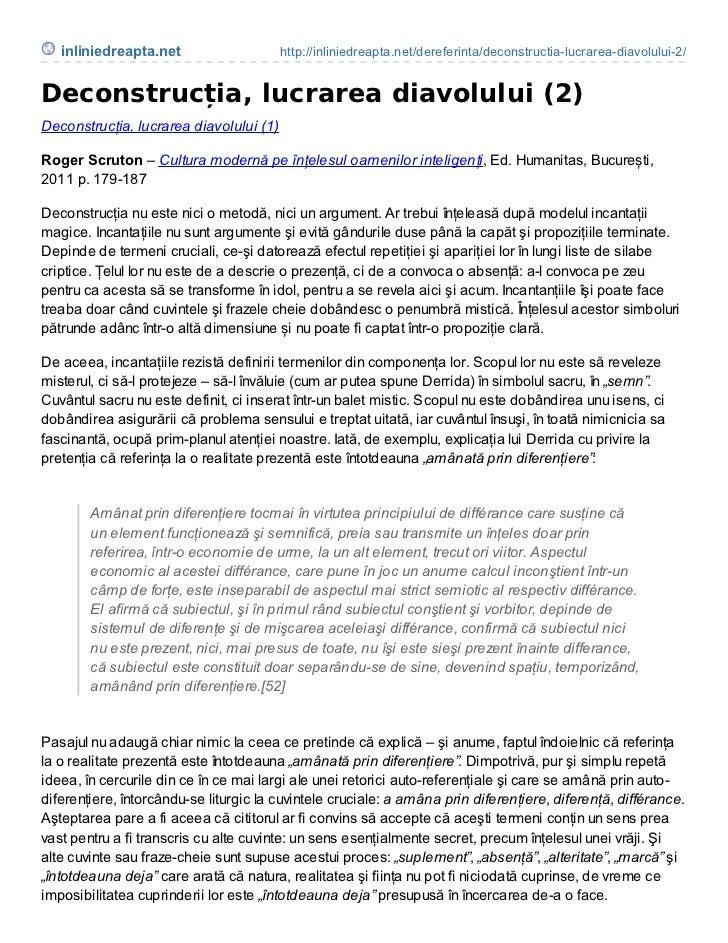 inliniedreapta.net                    http://inliniedreapta.net/dereferinta/deconstructia-lucrarea-diavolului-2/Deconstruc...