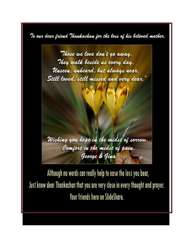 In loving memory dear thankachan...