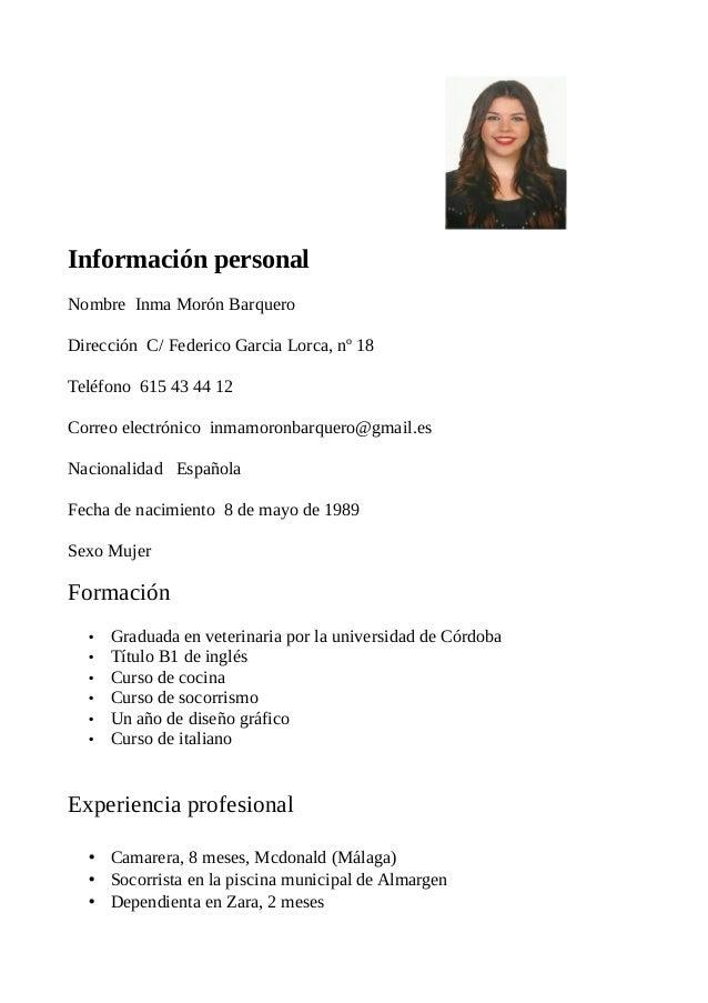 inma curriculum