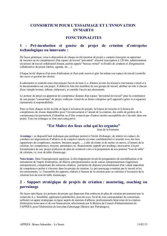 CONSORTIUM POUR L'ESSAIMAGE ET L'INNOVATION                          INMART®                                           FON...