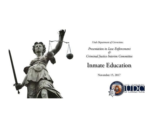 Utah Department Of Education >> Inmate Education In Utah