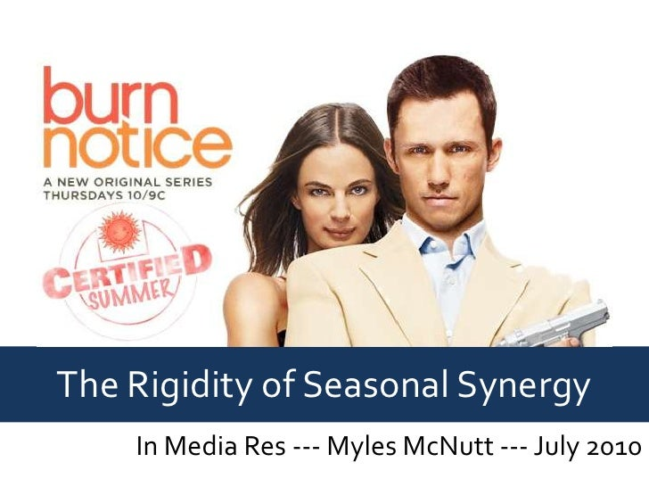 The Rigidity of Seasonal Synergy<br />In Media Res --- Myles McNutt --- July 2010<br />