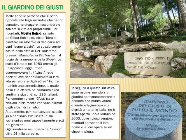 In memoria dei giusti - Il giardino dei giusti ...