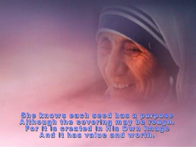 In memory of mother teresa
