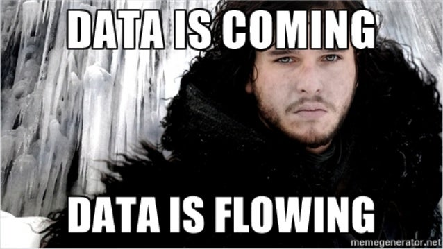 Data is coming Data is flowing