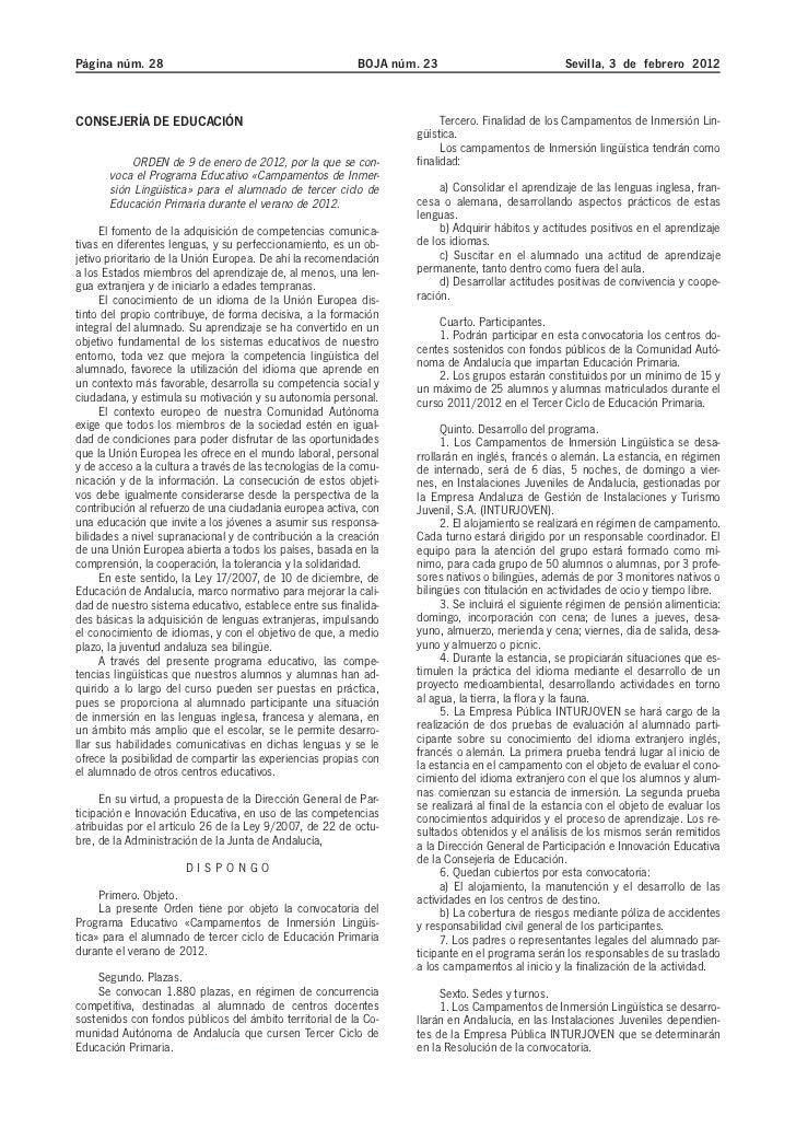 Página núm. 28                                             BOJA núm. 23                           Sevilla, 3 de febrero 20...
