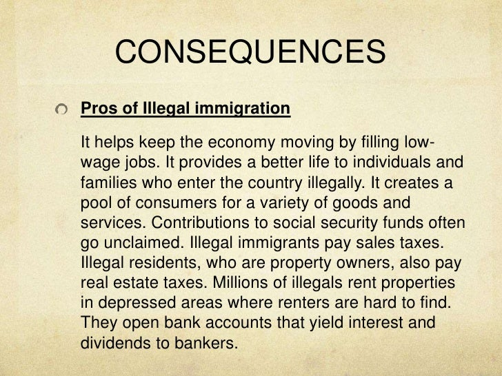 the consequences of illegal immigration to a country