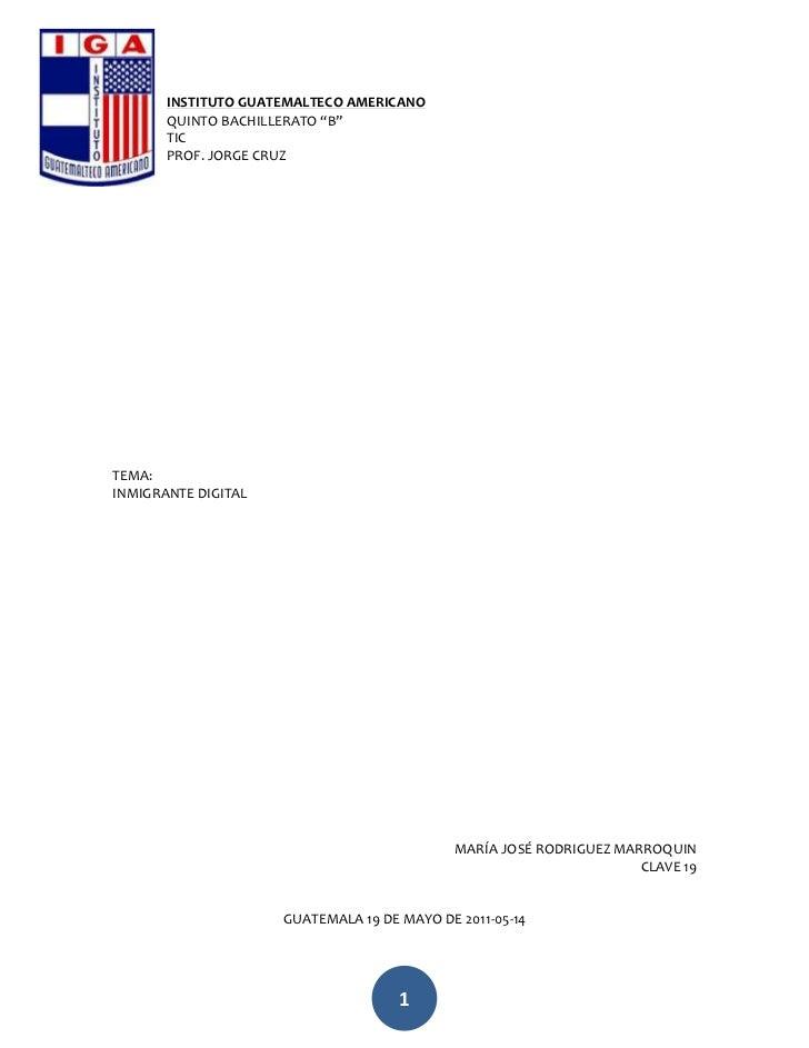 """-699135-623570INSTITUTO GUATEMALTECO AMERICANO<br />QUINTO BACHILLERATO """"B""""<br />TIC<br />PROF. JORGE CRUZ<br />TEMA:<br /..."""