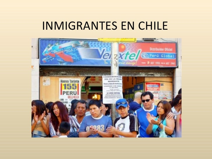 INMIGRANTES EN CHILE