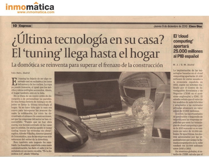 INMOMATICA cincodias 09-12-2010