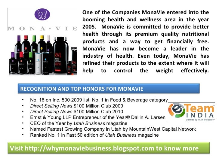 One of the Companies MonaVie entered into the                            booming health and wellness area in the year     ...