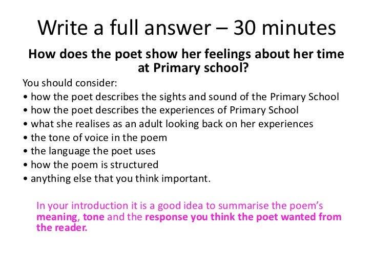 poem commentary in mrs tilchers class Some explained  differences between the ways the poets present those  feelings  in 'mrs tilcher's class' how does the poet present the speakers  feelings.