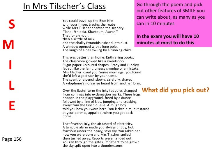 mrs tilschers class poem essay