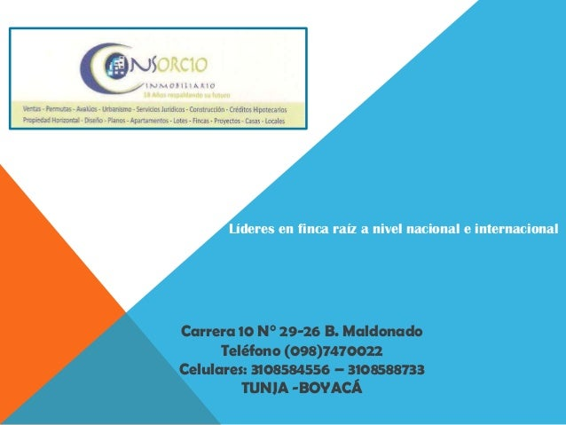 Líderes en finca raíz a nivel nacional e internacionalCarrera 10 N° 29-26 B. MaldonadoTeléfono (098)7470022Celulares: 3108...