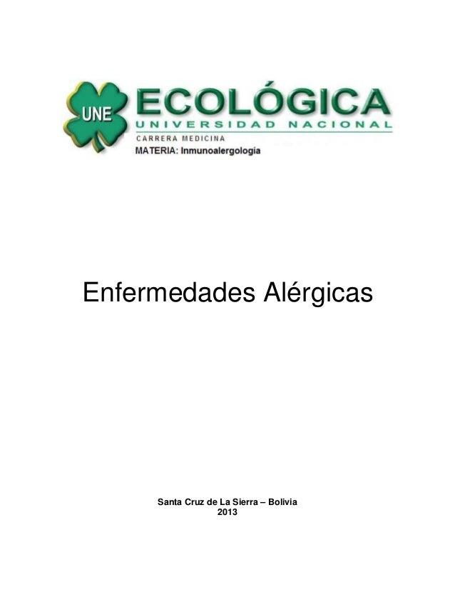 Enfermedades Alérgicas Santa Cruz de La Sierra – Bolivia 2013