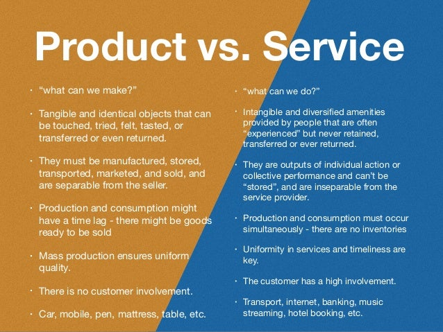 Service design thinking for Product and service design