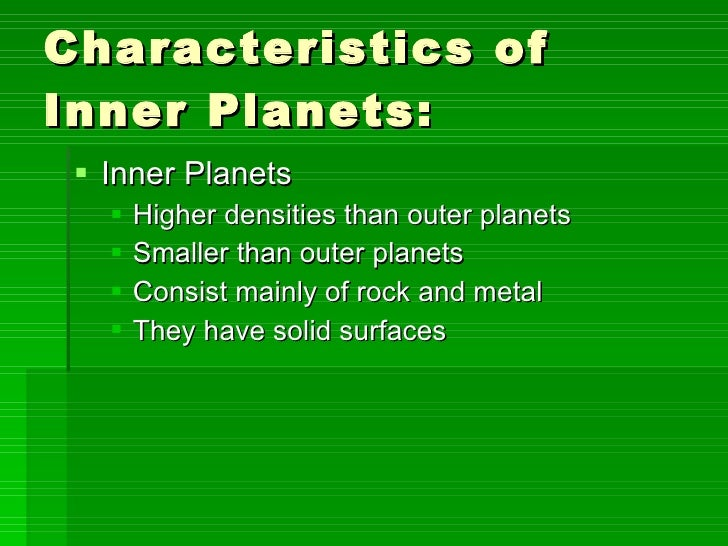 characteristics of the outer planets - photo #1