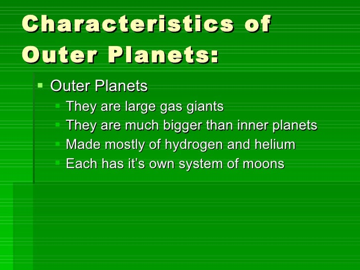 outer planets and their characteristic - photo #36
