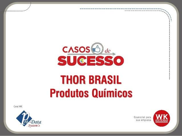 THOR BRASIL Produtos Químicos Canal WK: