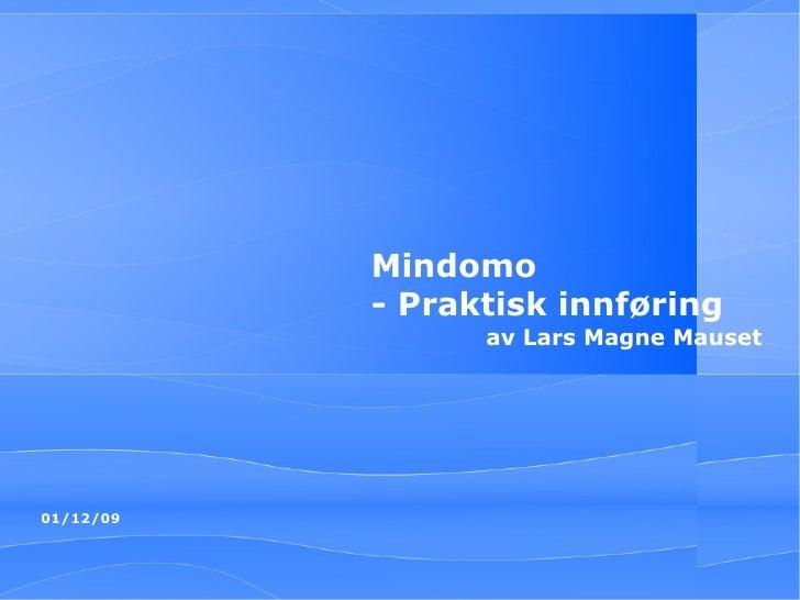 Mindomo - Praktisk innføring av Lars Magne Mauset