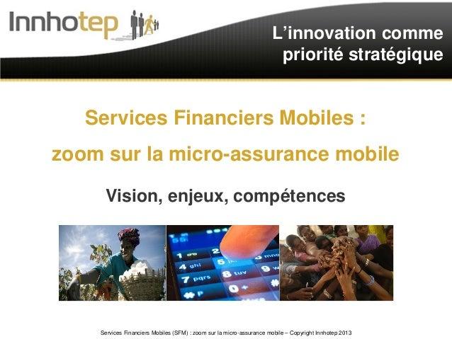 L'innovation comme                                                                      priorité stratégique   Services Fi...