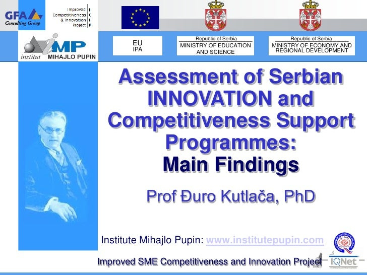 Republic of Serbia        Republic of Serbia        EU        MINISTRY OF EDUCATION    MINISTRY OF ECONOMY AND        IPA ...