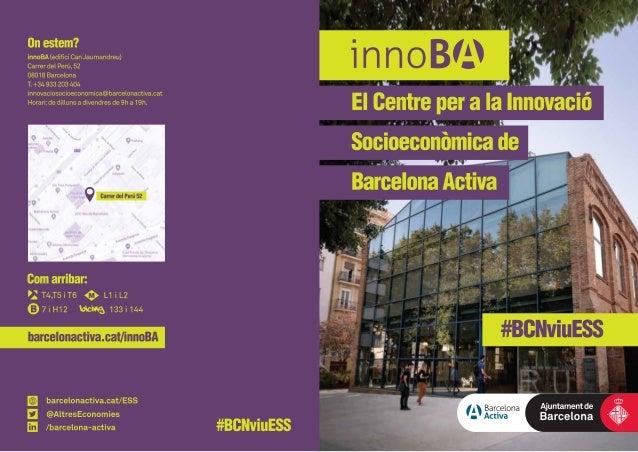 innoBA: el Centre per a la Innovació Socioeconòmica de Barcelona Activa