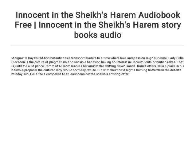 innocent in the sheikh s harem kaye marguerite