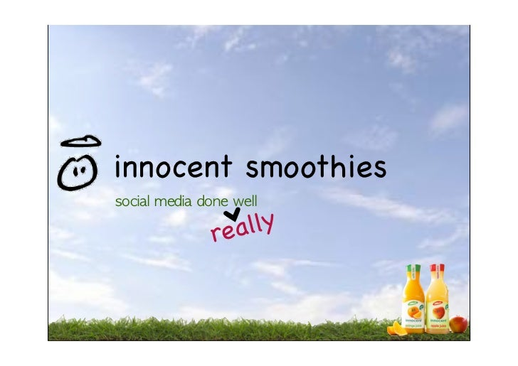 porters 5 forces and innocent smoothies Innocent were the first company to start selling smoothies which in turn gave them a competitive advantage of being the first on the scene, this gave them allot more experience over the years of operation than other competitors in the market today, factors which play in favour of innocent are as follows.