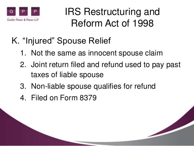 Relief From Joint Several Liability Innocent Spouse Relief