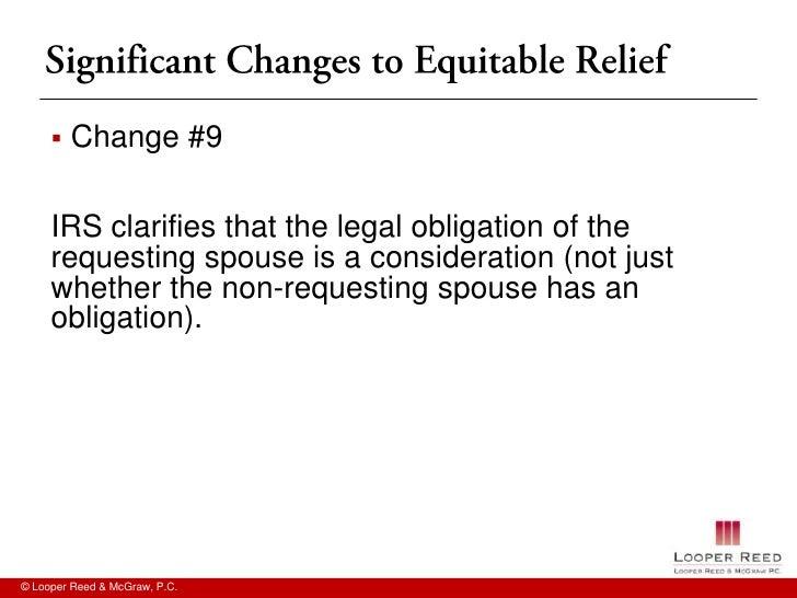 Innocent Spouse Relief