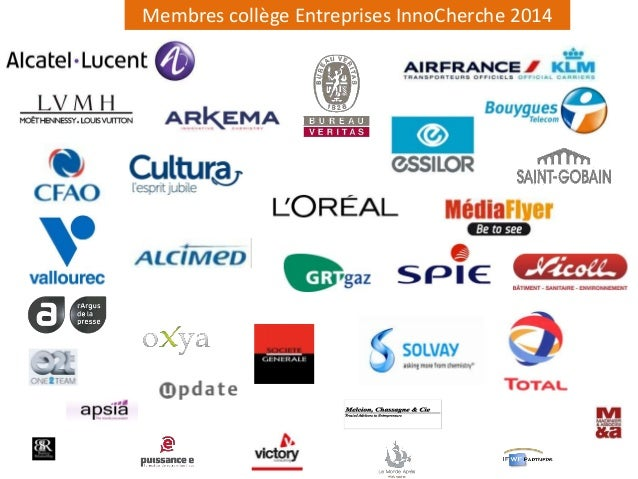 Membres collège Entreprises InnoCherche 2014