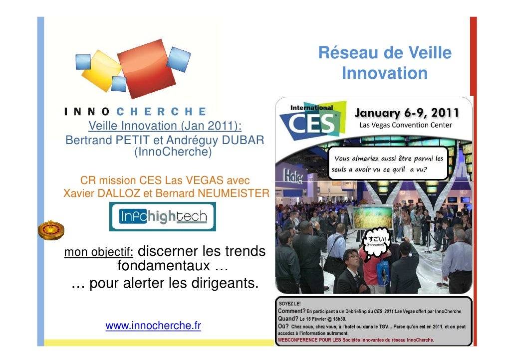 Réseau de Veille                                               Innovation    Veille Innovation (Jan 2011):Bertrand PETIT e...