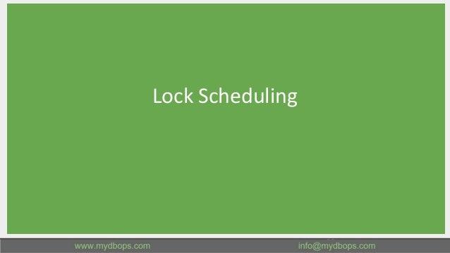 Lock Scheduling 23