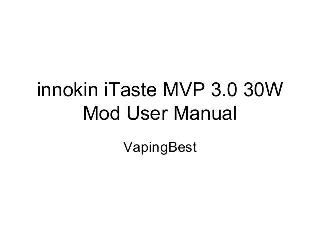 itaste mvp manual
