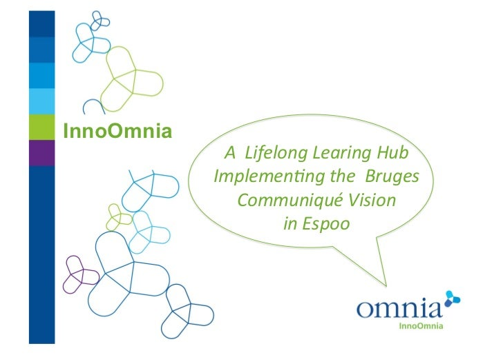 InnoOmnia             A  Lifelong Learing Hub             Implemen3ng the  Bruges                Communi...
