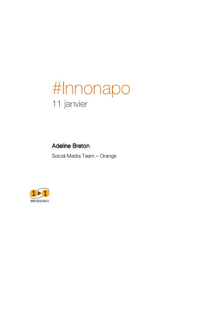 #Innonapo11 janvierAdeline BretonSocial Media Team – Orange