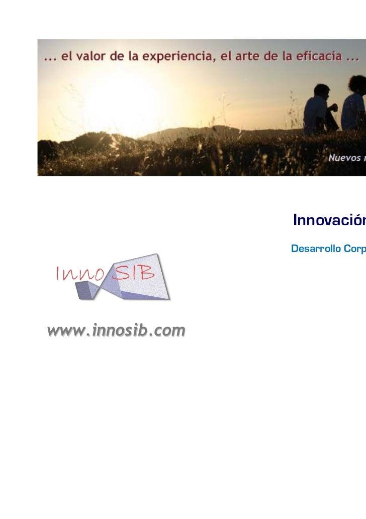 Innovación en las ONGs                  Desarrollo Corporativo y Estratégicowww.innosib.com