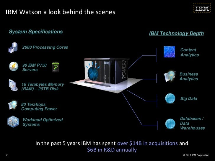 IBM Watson a look behind the scenes    System Specifications                                    IBM Technology Depth      ...