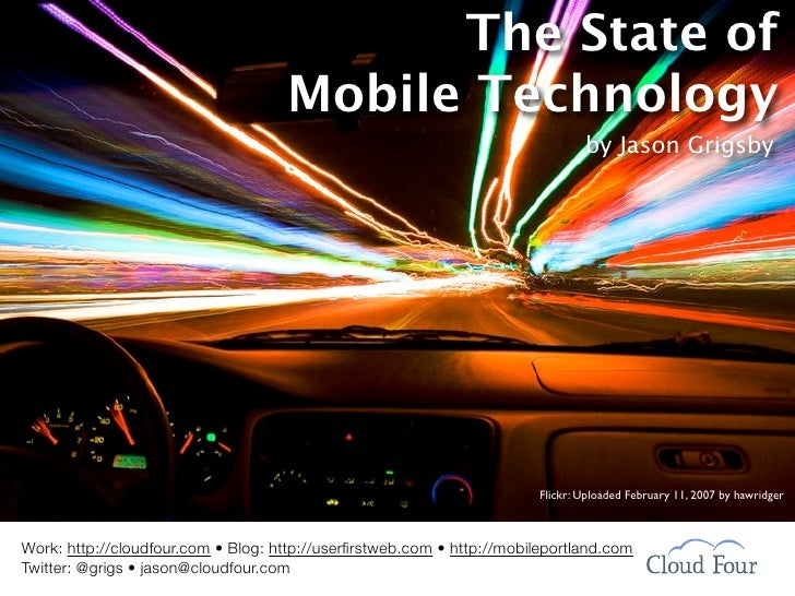 The State of                                     Mobile Technology                                                        ...