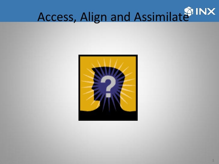 Access, Align and Assimilate                               1