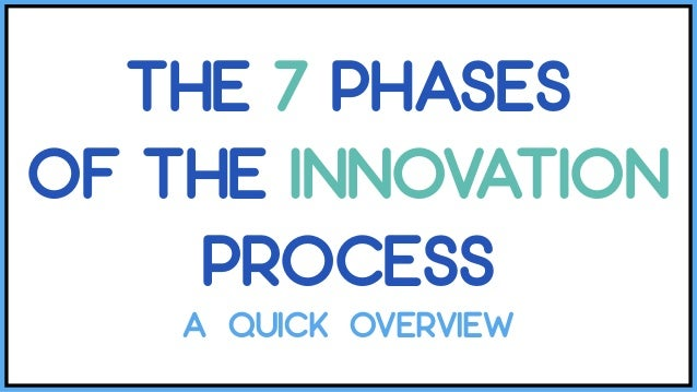 THE 7 PHASES OF THE INNOVATION PROCESS A QUICK OVERVIEW