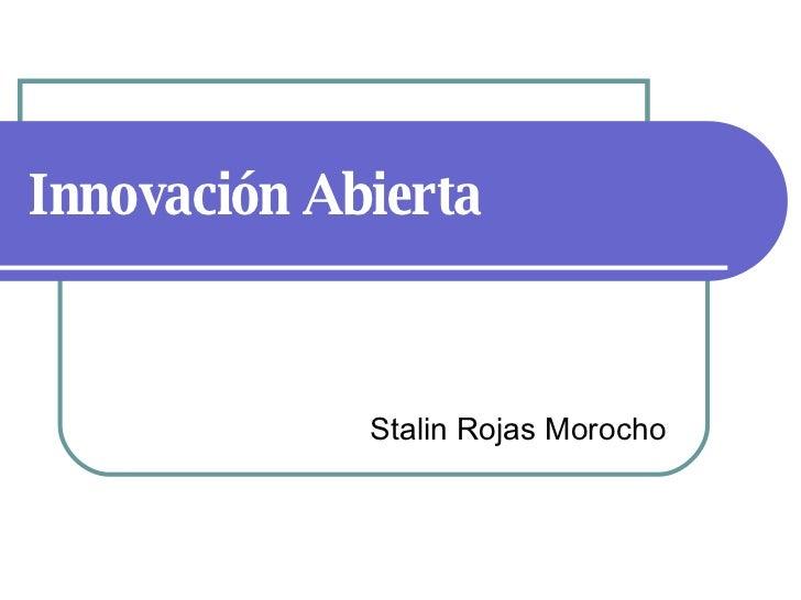 Innovación Abierta Stalin Rojas Morocho