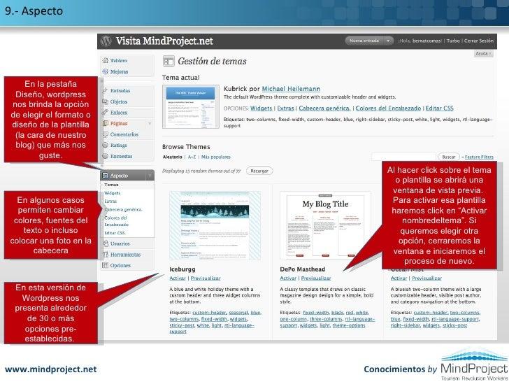 Manual Iniciación en Wordpress. Cómo crear tu propio Blog
