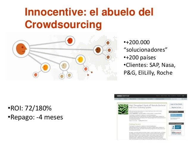 Los beneficios percibidos del crowdsourcing incluyen: 1. Los problemas pueden ser explorados y analizados a costos compara...