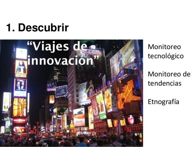 1. Descubrir Monitoreo tecnológico Monitoreo de tendencias Etnografía