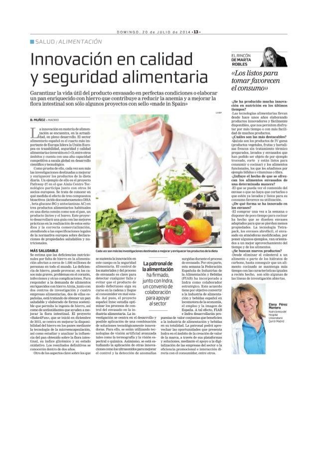 Innovación en calidad y seguridad alimentaria