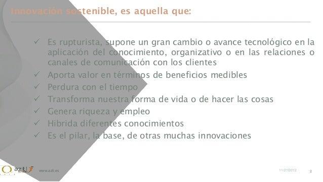 Innovación sostenible azti Slide 2