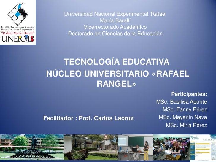 """Universidad Nacional Experimental """"Rafael                      María Baralt""""               Vicerrectorado Académico       ..."""